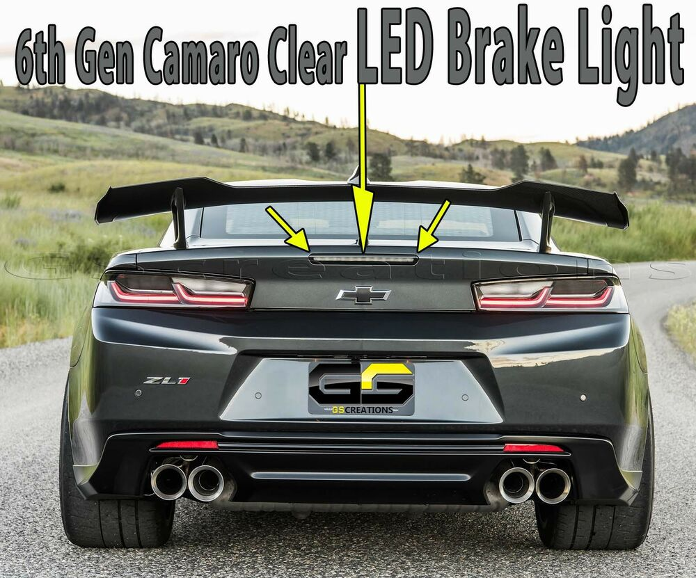 6th GEN Camaro Smoked / Clear LED Brake Light ZL1 1LE SS ...