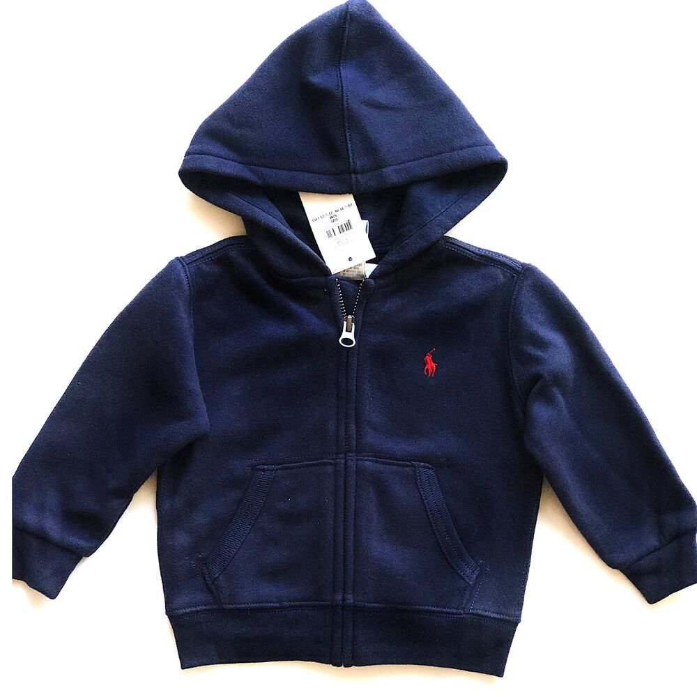 ce382d657 Details about NWT Baby Boys Ralph Lauren Hoodie age 9 months or 12 months
