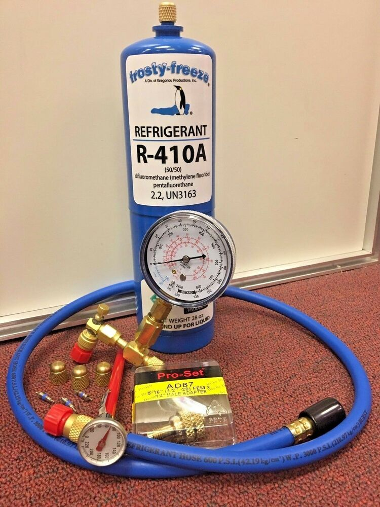R410 R410a Refrigerant Recharge Kit 28 Oz Thermometer