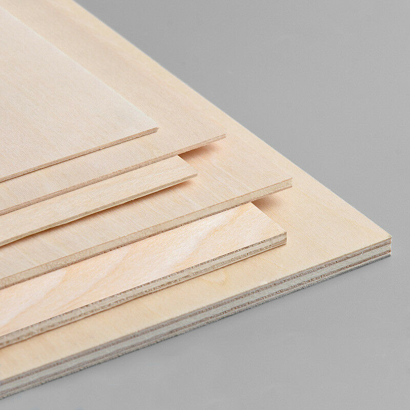 5pcs Wood Board Basswood Plywood Sheet 1 5mm 2mm 3mm 4mm
