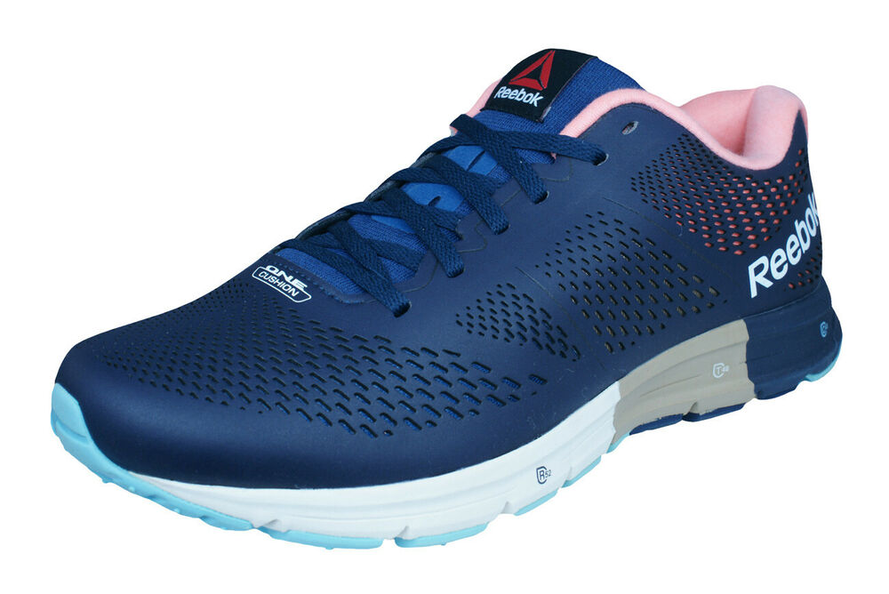 f609327c8 Details about Reebok One Cushion 2.0 Lux Mens Running Sneakers   Sports  Shoes - Blue