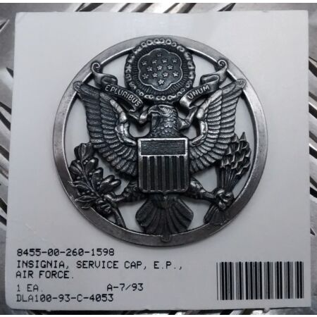 img-Genuine American USAF Service Cap Badge Air Force Enlisted Personnel - NEW