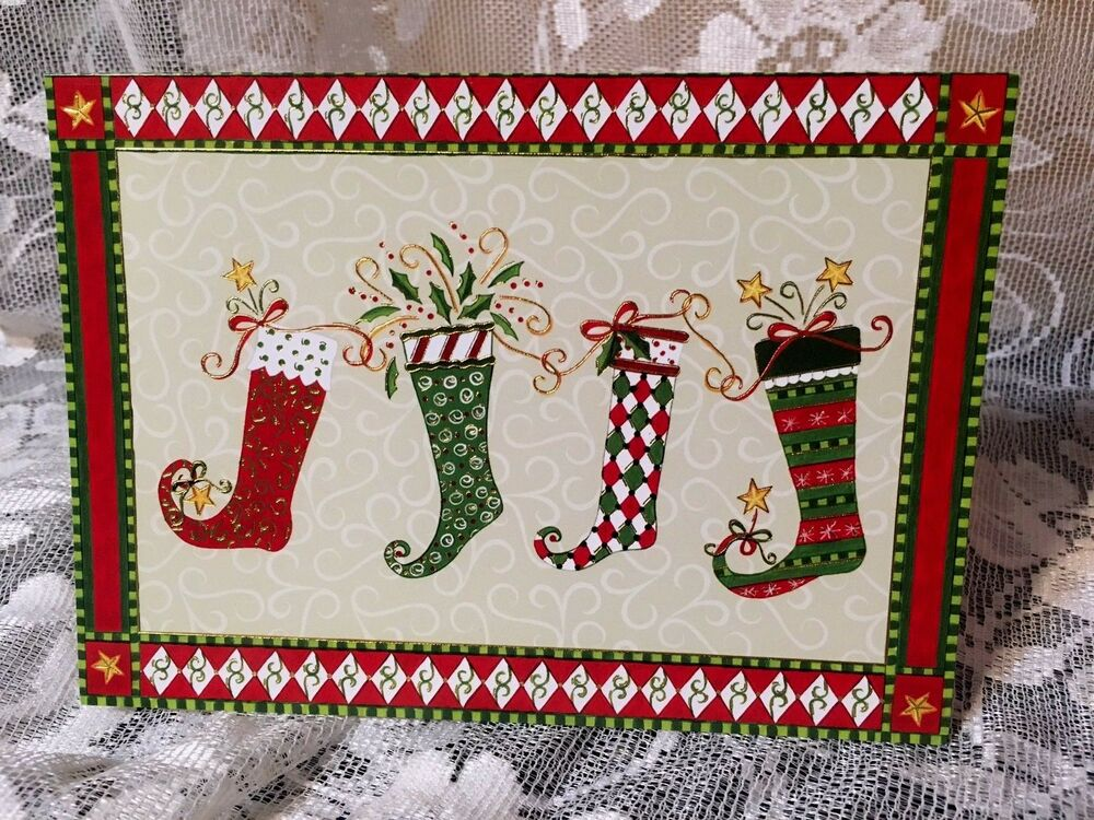 17 Peter Pauper Press Deluxe Christmas Cards Christmas Stockings ...