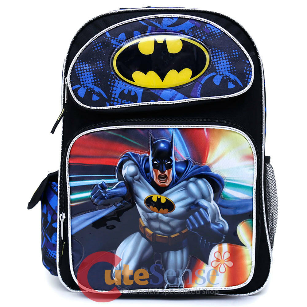 3e3efe975ec8 Details about DC Comics Batman Large School Backpack 16