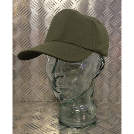 img-Genuine US Army Olive Green Baseball Hat/Cap With Leather Band - All Sizes - NEW