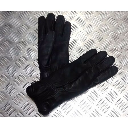 img-Genuine British Military Black Leather Combat Gloves MK2 MVP - All Sizes - NEW
