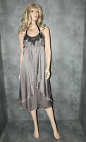 BNWT Grey Silver MONSOON Evening Dress Size 12 Ladies Party Frock rrp £140