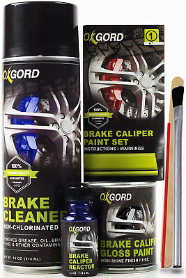 Red Paint for Brake Calipers Rotors & Engine High Heat 2-Part Epoxy Brush-On Kit