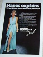 1972 print ad page - Hanes Explains Ultra Sheer Pantyhose sexy girl legs ADVERT