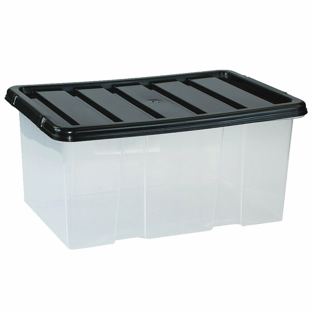 Details About 10 X 7 Litre Small Plastic Storage Bo With Lids Stackable Box Useful
