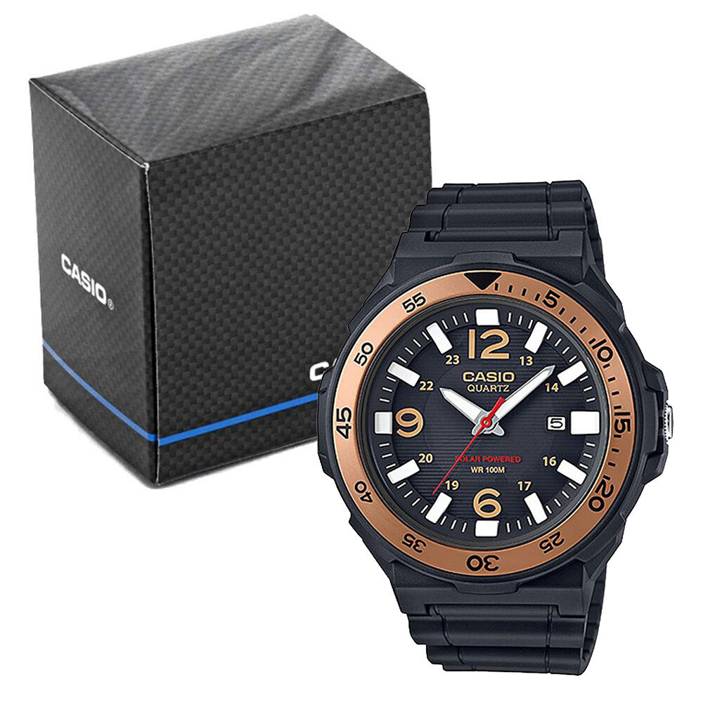 Casio collection mens solar powered analogue watch model ref mrw s310h 9bvef ebay for Solar power watches