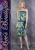 Principles Green Strapless Evening Dress Size 12 Ladies Party Frock Wedding