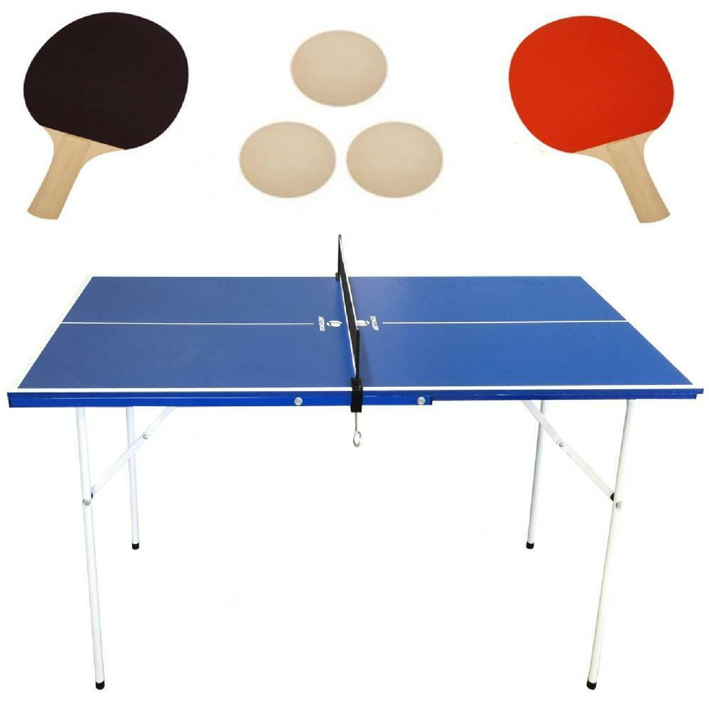 folding tennis table professional tournament ping pong net mini size indoor set ebay. Black Bedroom Furniture Sets. Home Design Ideas