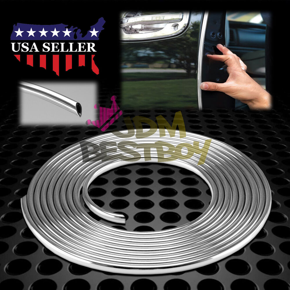 180 Quot Long Silver Chrome Car Door Edge Guard Molding Trim