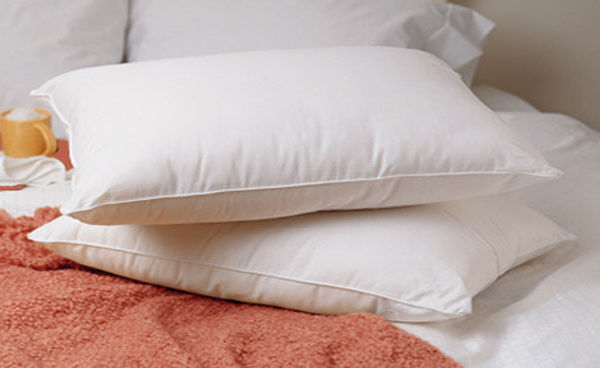 Standard Queen Size Feather Goose Down Bed Pillow Set Of 2