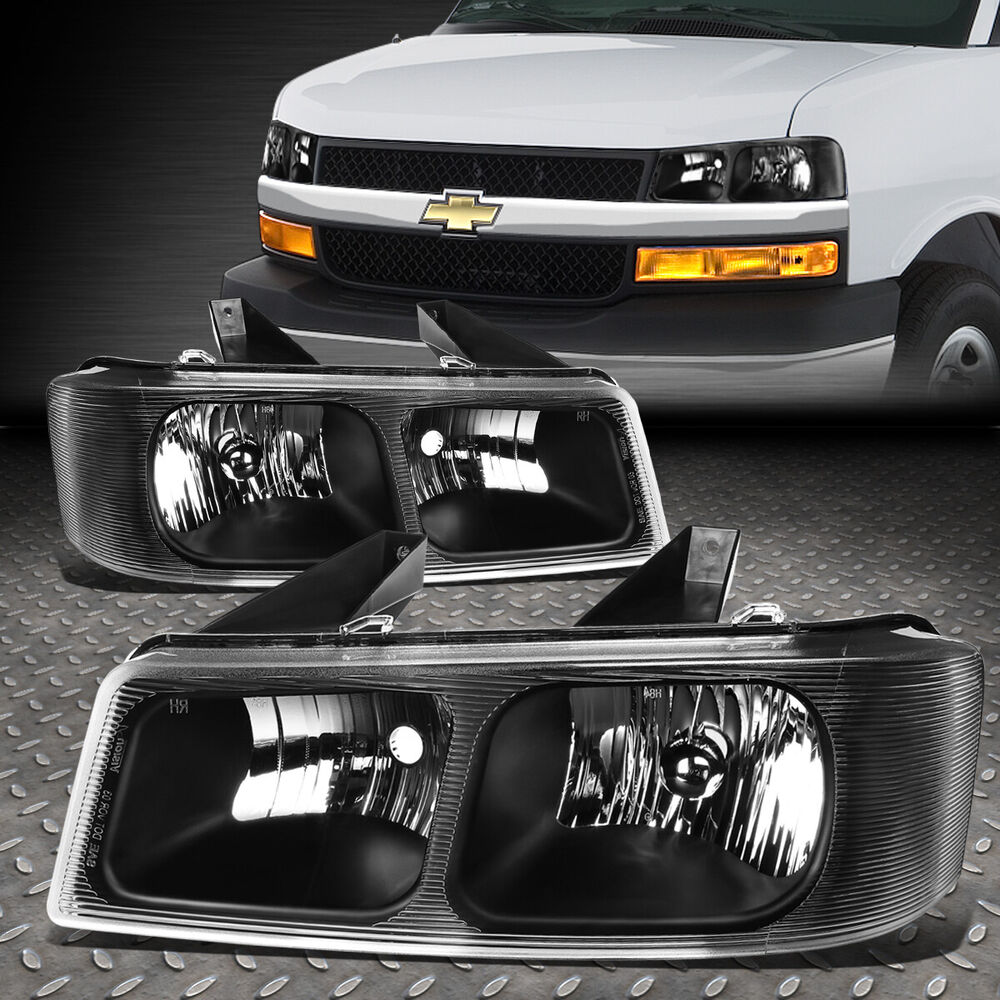 2003 Chevrolet Express 1500 Cargo Interior: FOR 2003-2017 CHEVY EXPRESS/GMC SAVANA PAIR BLACK HOUSING