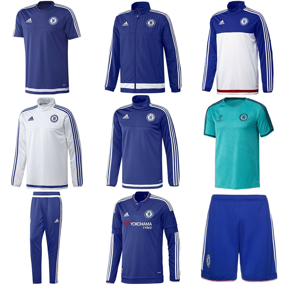 Details about adidas CHELSEA FC TRAINING JACKET T SHIRT SHORTS JUMPERS  FOOTBALL SOCCER PANTS 479039d02