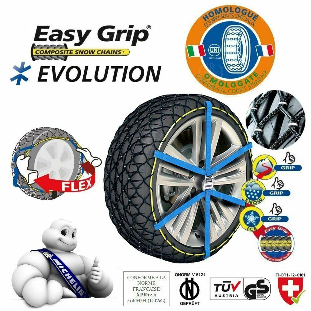 catene da neve michelin easy grip evolution evo 7 misura 205 55 16 205 55 r16 ebay. Black Bedroom Furniture Sets. Home Design Ideas