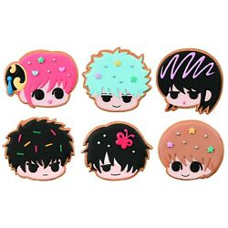 GINTAMA PATISSERIE COOKIE SHOP CHARM 6 PCS DISPLAY MEGAHOUSE NEW