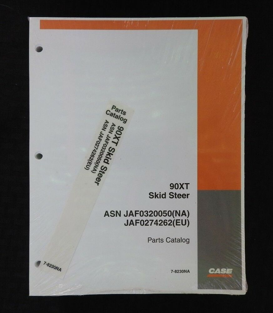 CASE 90XT 90 XT SKID STEER LOADER TRACTOR PARTS MANUAL CATALOG SER. #  JAF0320050 | eBay
