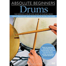Absolute Beginners Drum Lessons Learn How to Play Drums Music Video DVD NEW