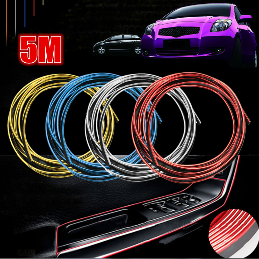 universal 5m car decorative styling moulding filler strip interior exterior line ebay. Black Bedroom Furniture Sets. Home Design Ideas