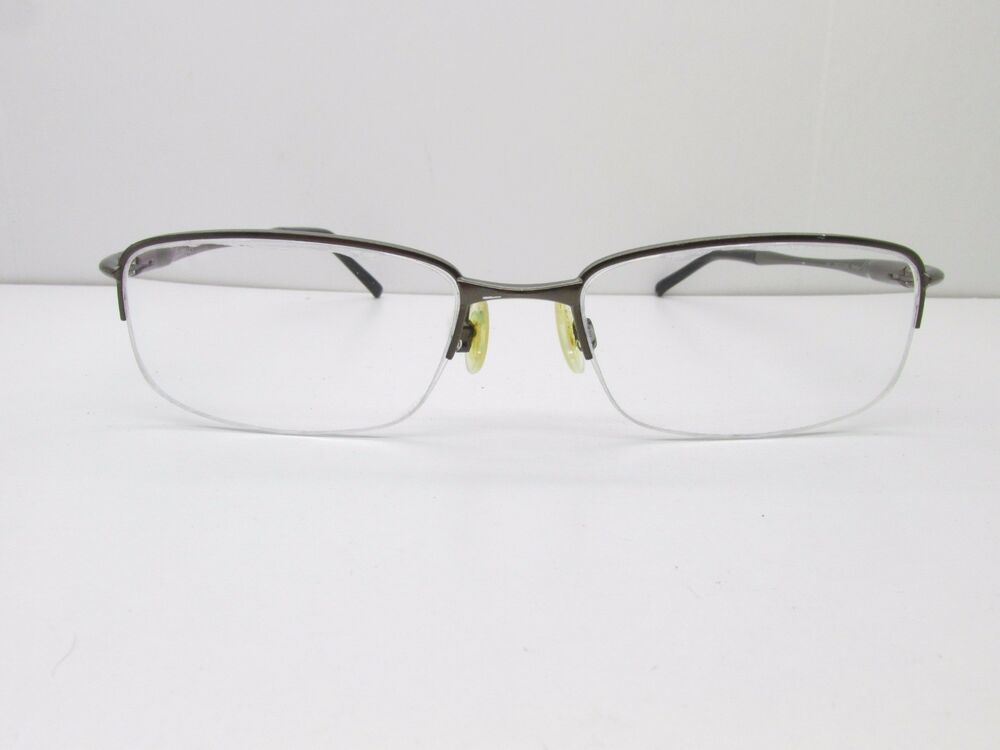 6e2a543dbd3 Details about Oakley Clubface OX3102 EYEGLASSES FRAMES 52-17-143 Brown Half  Rimless TV6 35619