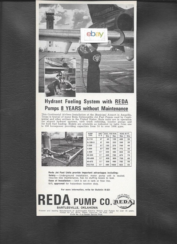 CONTINENTAL AIRLINES 1968 DC-9-15 AMARILLIO AIRPORT REDA FUELING SYSTEM AD  | eBay
