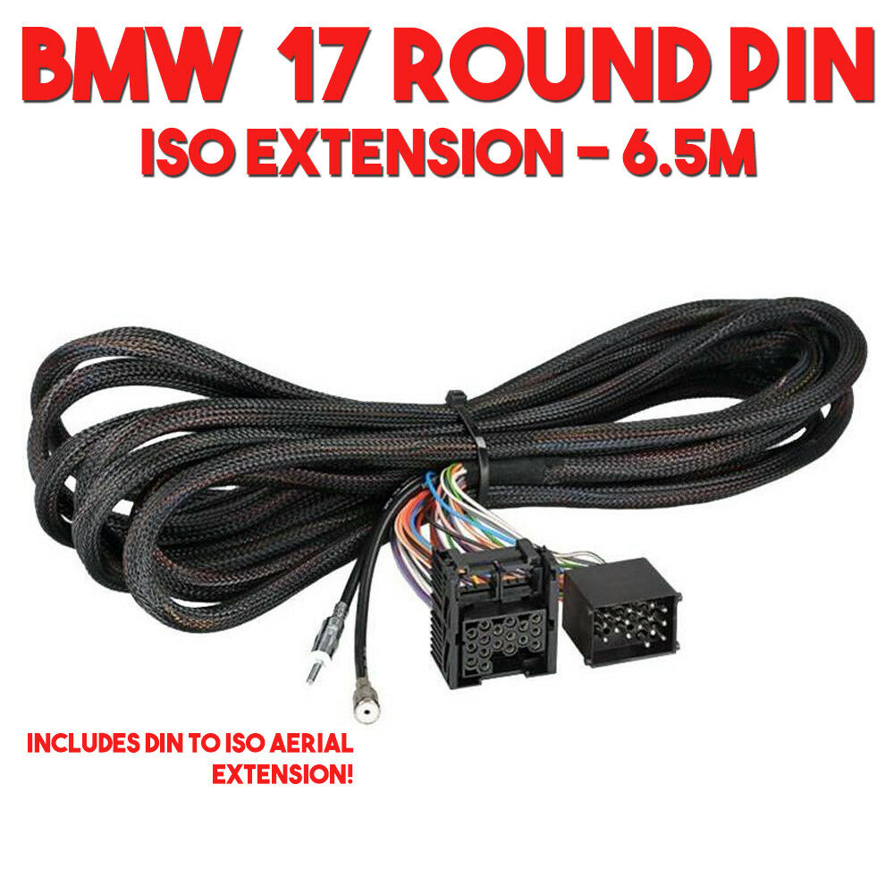 bmw 17 pin wiring harness lead with power, speaker \u0026 aerial 6 5mdetails about bmw 17 pin wiring harness lead with power, speaker \u0026 aerial 6 5m extension cable