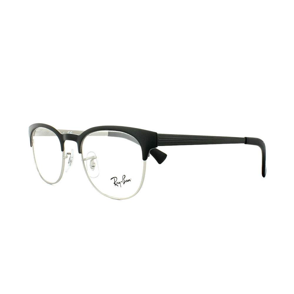 04432c20fc Ray-Ban Glasses Frames 6317 2832 Top Black on Matte Silver Mens Womens 49mm  8053672292176