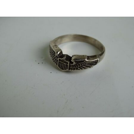 img-US Army Airforce Pilot Wings Sterling Ring Air Force Glider Flight Wings WK2 WW2