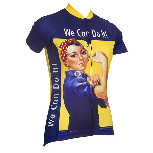 ROSIE THE RIVETER WOMEN S SHORT SLEEVE CYCLING JERSEY- by Retro Image  Apparel  20f63d1ec