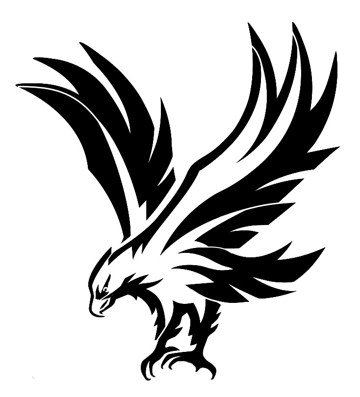 high detail airbrush stencil eagle nine free uk postage