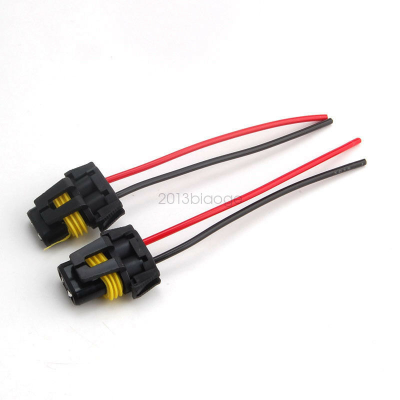 Details About 2x 9005 9006 Female Adapter Wiring Harness Sockets Wire For Headlight Fog Light