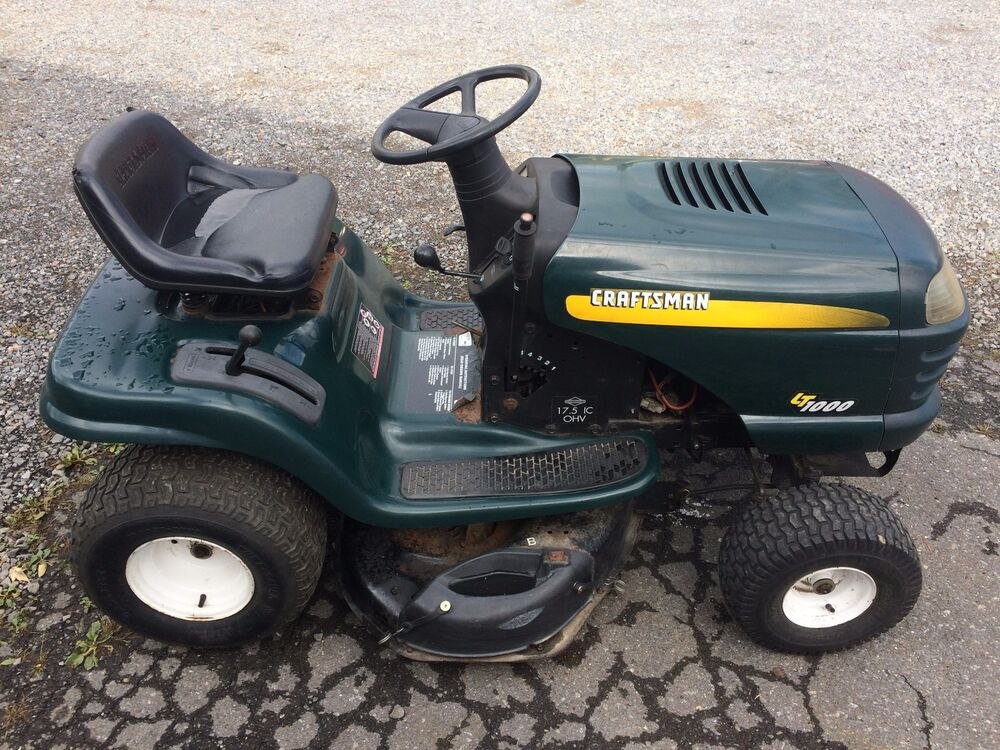 Sears craftsman lt1000 riding tractor lawn mower 17 5 for Craftsman 17 5 hp motor