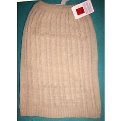 NEW Cream/Tan Sparkly Sleeveless Dog Sweater Clothes Top Paw (Pick Size L / XL)