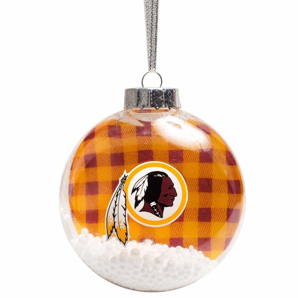Washington Redskins Flannel Shatterproof Snow Disc Globe Christmas ...