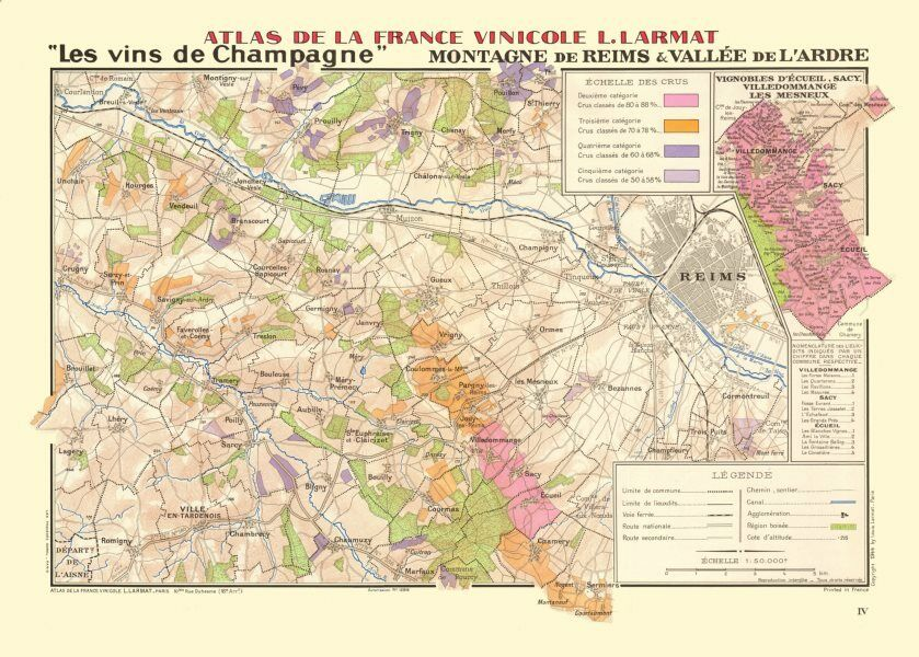 CHAMPAGNE VINEYARD MAP Montagne de Reims Valle de lArdre cueil
