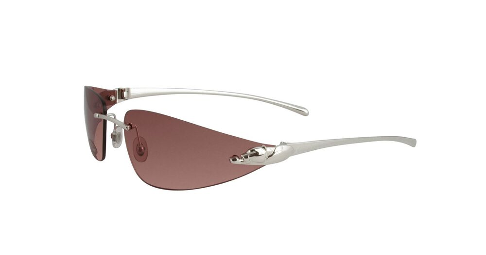 389e7be73c NEW CARTIER PINK PANTHER SUNGLASSES T8200632 PLATINUM FRAME PINK LENS  FRANCE