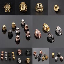 Zircon Micro Pave Star War Buddha Helmet Superhero Connector Diy Beads Bracelets