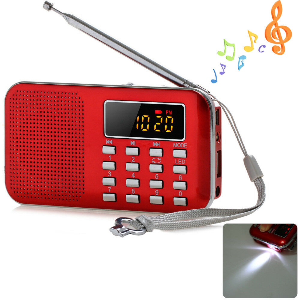 mini portable lcd digital fm radio speaker usb tf card mp3. Black Bedroom Furniture Sets. Home Design Ideas