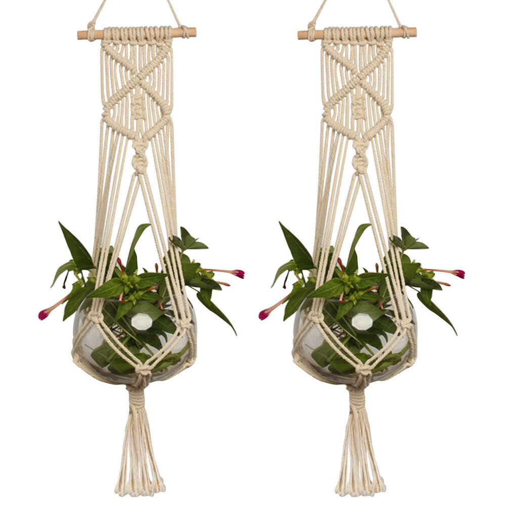 how to macrame plant hanger pot holder macrame plant hanger hanging planter basket 4393