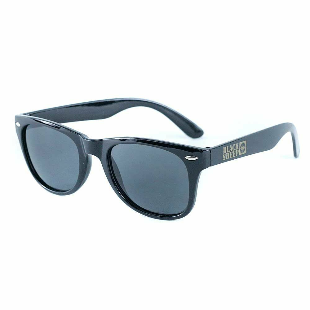 4f86a90b37 Details about Black Sheep Target Sunglasses Black Gold UV Protection  Glasses New Free Delivery