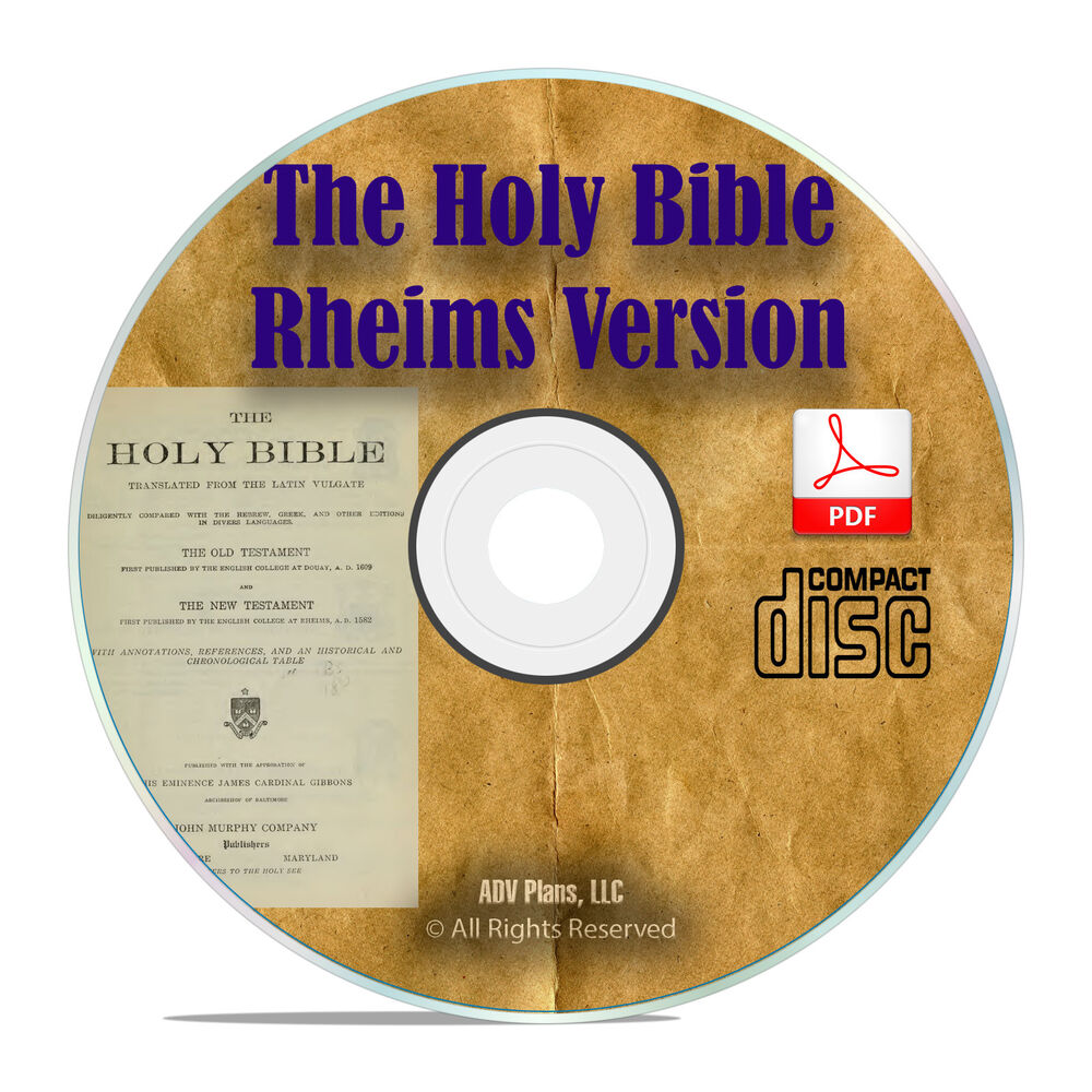 DOUAI DOUAY RHEIMS VERSION, CATHOLIC BIBLE With Apocrypha Classic PDF CD  H11 | eBay