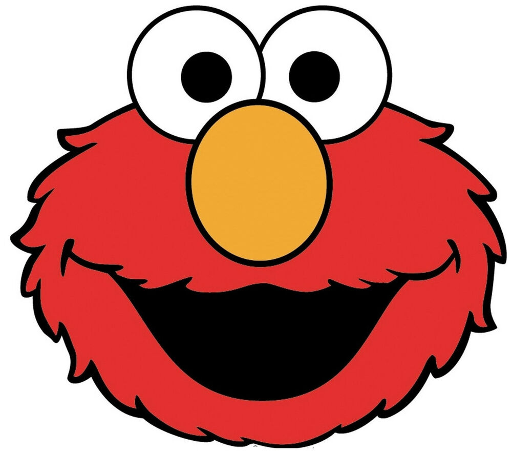 7 Quot 9 Quot Sesame Street Elmo Face Wall Sticker Glossy Cut Out