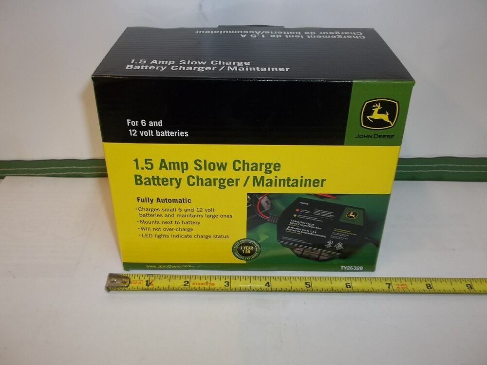New John Deere Battery Charger Maintainer 1 5 Amp Mounts