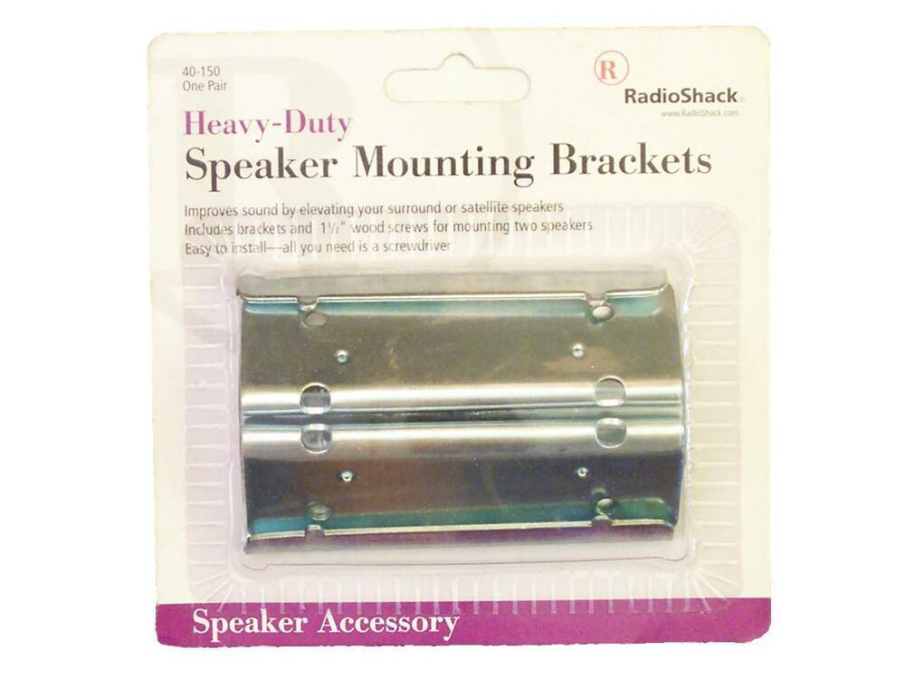 Heavy Duty Speaker Wall Mounting Brackets 2 Pk