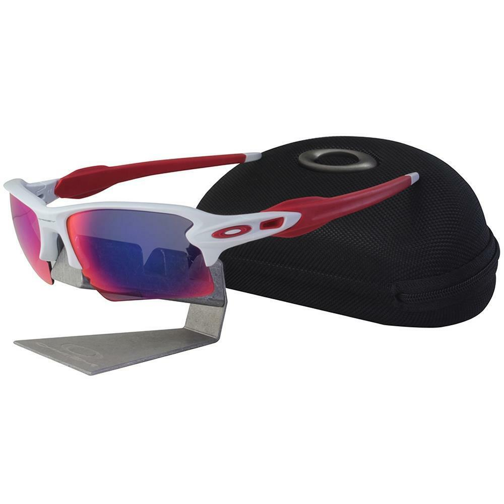 cd72dd9122 Details about Oakley OO 9188-21 FLAK 2.0 XL Polished White Positive Red  Lens Mens Sunglasses