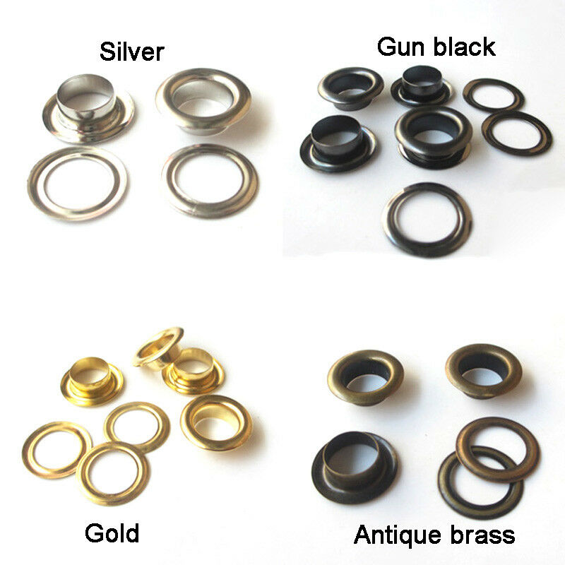 8mm 10mm 12mm 14mm 20mm Eyelet With Washer Leather Craft Repair Grommet Banner
