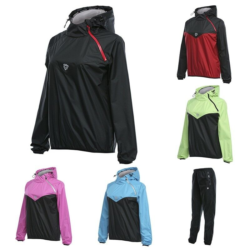 67ade29913b0e6 Details about Newly Women Sweat Sauna Jacket Pants Gym Workout Clothes  Weight Control Slimming